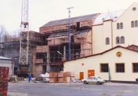 Pivovar výstavba nové varny 1992