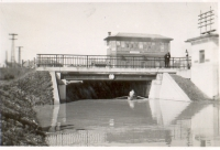 Povodně březen 1941, podjezd na Bratislavské ulici