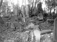 Židovský hřbitov v 70. letech 20. stol